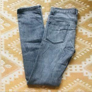 Zara Grey Straight Leg Jeans Distressed Size EU 38